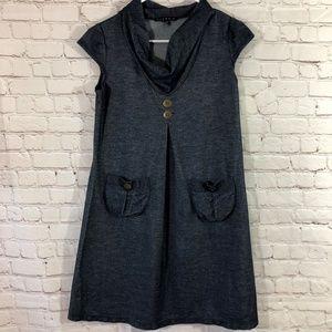 Tiana B. Women's cowl neck denim midi dress size L